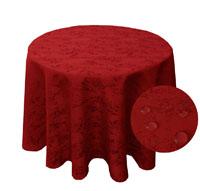 MELIERT Tischdecke Rund ROT Lotuseffekt Bügelfrei Größenwahl