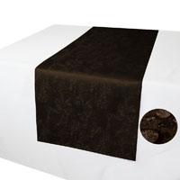 MELIERT Tischläufer DUNKELBRAUN Marmoriert mit Lotuseffekt Größenwahl