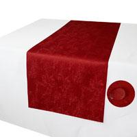 MELIERT Tischläufer ROT Marmoriert mit Lotuseffekt Größenwahl