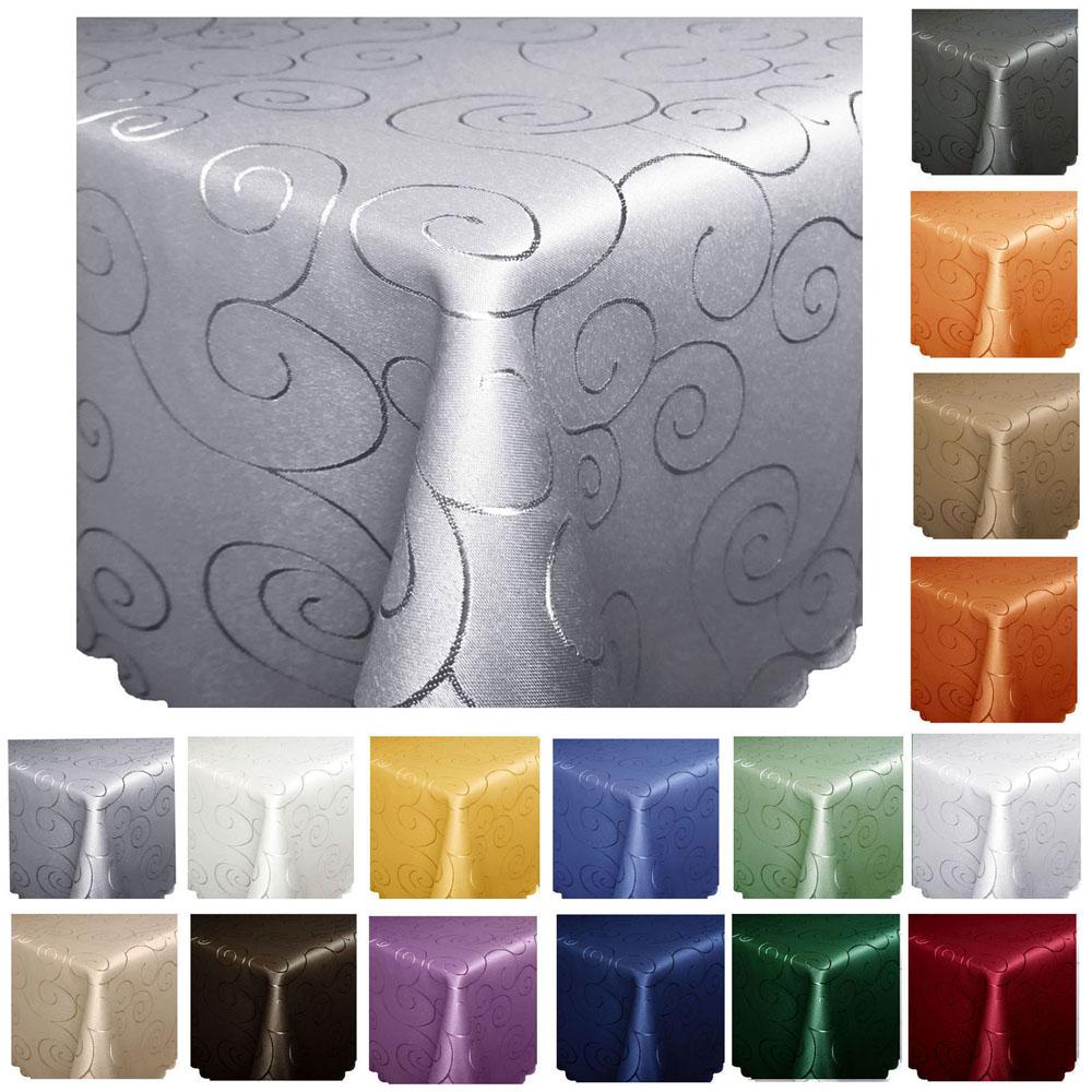 Tischdecke ORNAMENTE Eckig Bügelfrei Pflegeleicht Größen und Farbwahl