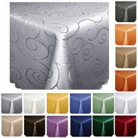 ORNAMENTE Quadratisch Tischdecke Farbwahl Damast Bügelfrei