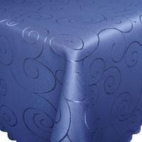 ORNAMENTE Tischdecke Quadratisch BLAU Bügelfrei Mitteldecke