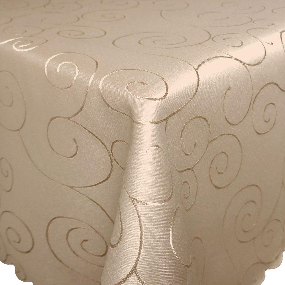 ORNAMENTE Tischdecke Quadratisch CREME-BEIGE Bügelfrei Mitteldecke