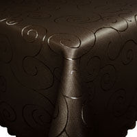 ORNAMENTE Tischdecke Quadratisch DUNKEL-BRAUN Bügelfrei Mitteldecke