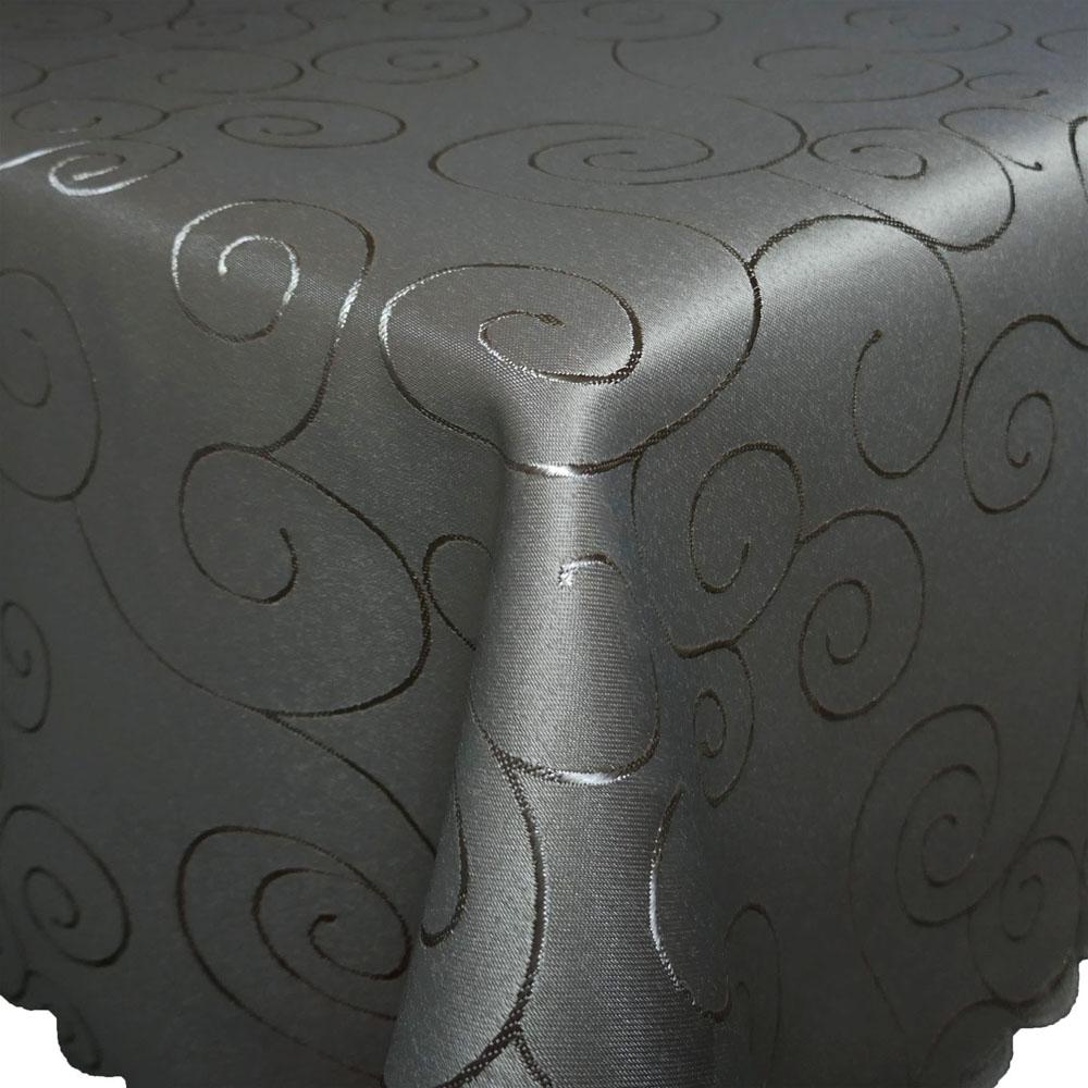 ORNAMENTE Tischdecke Quadratisch GRAU Bügelfrei Mitteldecke