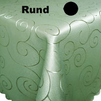 ORNAMENTE Tischdecke Rund ANTIK-GRÜN Lindgrün Pflegeleicht Bügelfrei