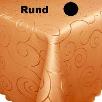 ORNAMENTE Tischdecke Rund HELL-TERRA Terrakotta hell Bügelfrei