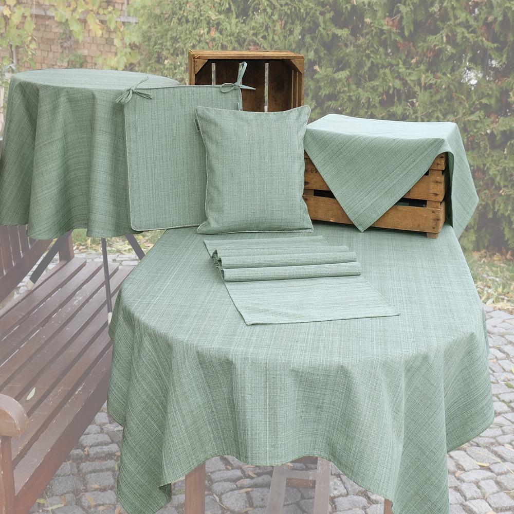 OUTDOOR Tischdecke MINT Rund 145 cm Fleckschutz Abwischbar Garten Küche