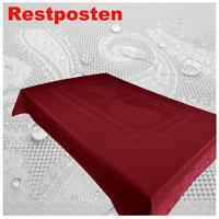 PAISLEY Tischdecke Rechteckig 140x260 DUNKELROT Fleckschutz
