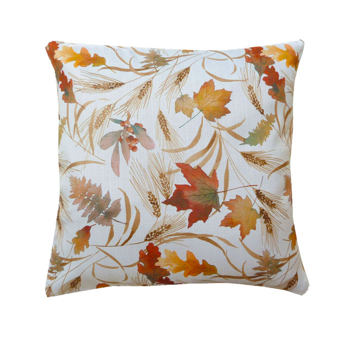 Herbstlaub Bunt LEINEN Optik Kissenhülle Blätter Größenwahl