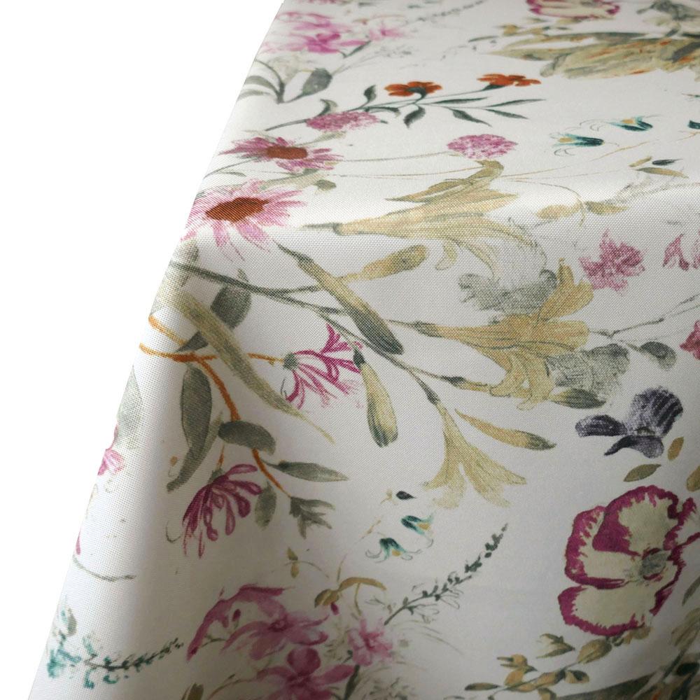 Romantik Blumen Tischdecke Rechteckig 110x140 cm Creme Altrosa