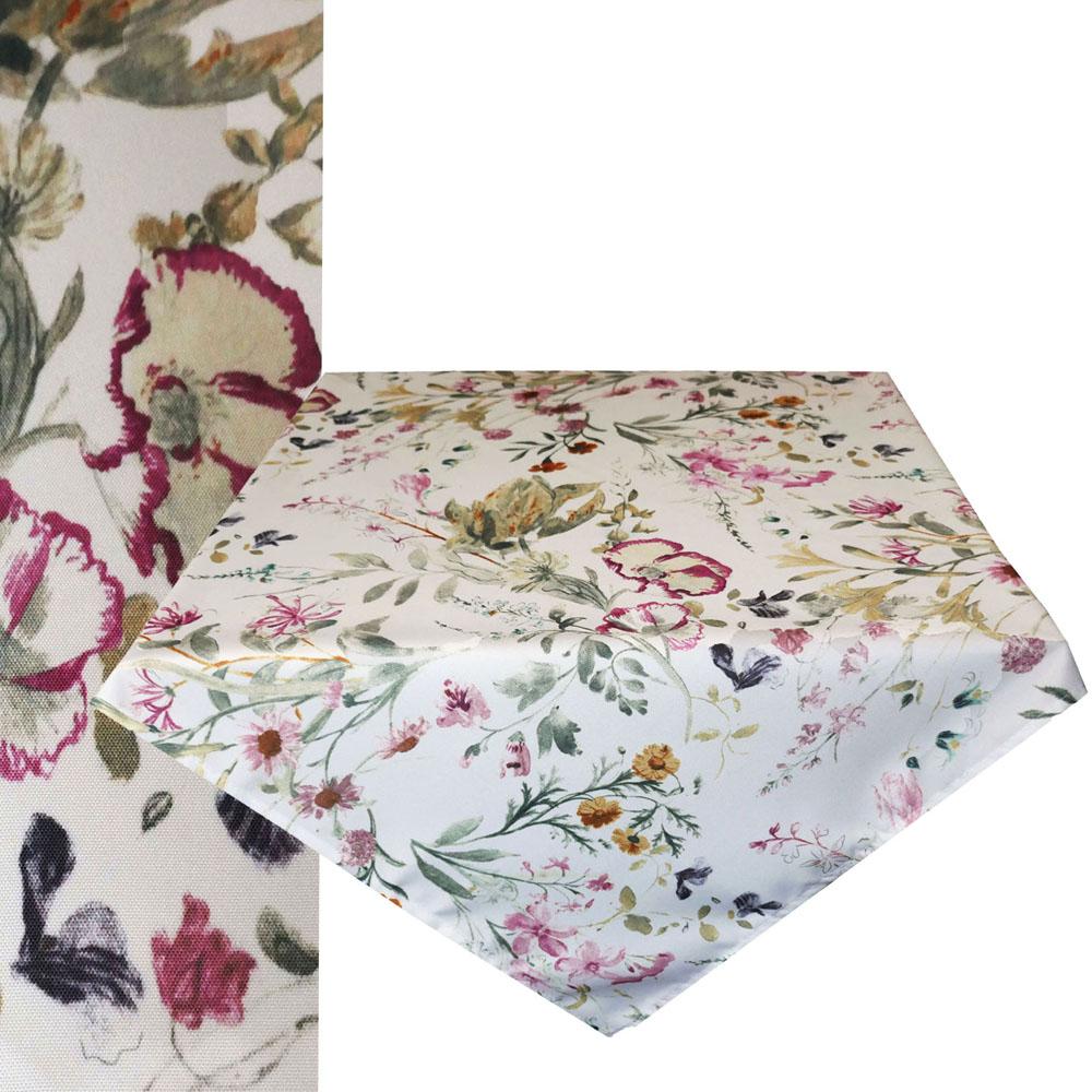 Romantik Blumen Mitteldecke 85x85 cm Tischdecke Tischdecke Quadratisch