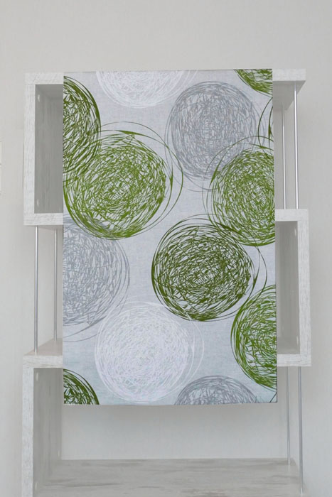 Tischläufer Vintage KREISE STRICHE Grün Tischband Funchal
