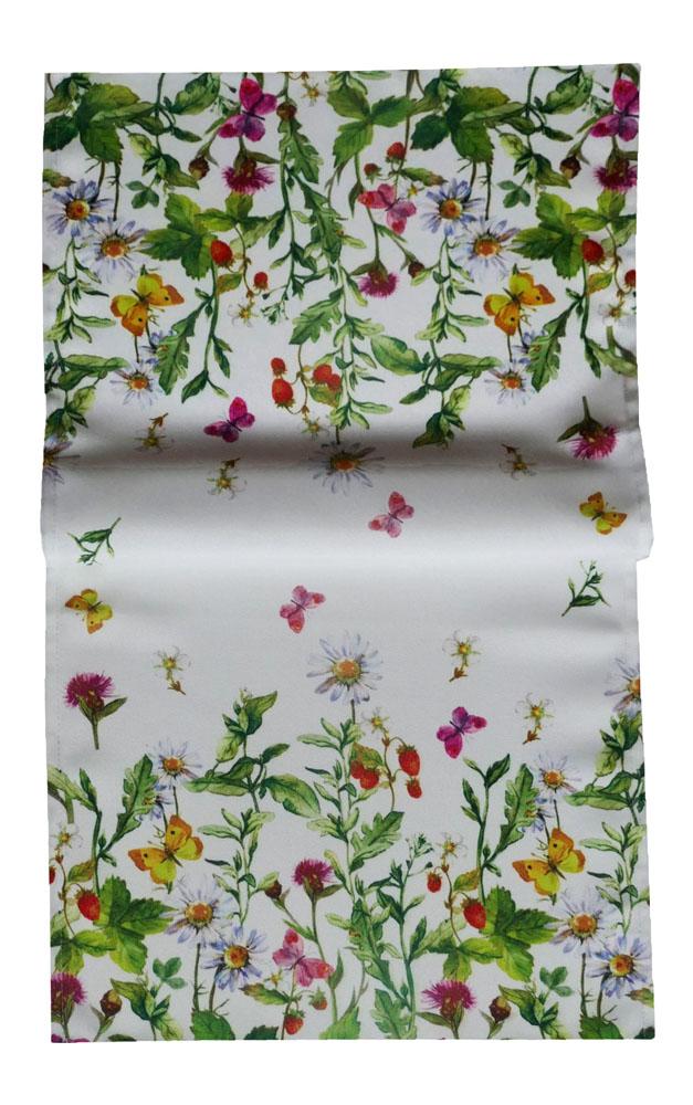 WIESENBLUMEN Schmetterlinge Tischläufer 40x90 Sommer Bunt