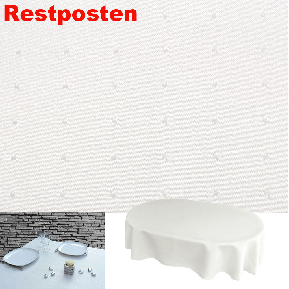punkte oval 130x260 creme weiss tischdecke b gelfrei. Black Bedroom Furniture Sets. Home Design Ideas