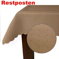 PUNKTE Eckig 160x220 CAPPUCCINO Sandbraun  Tischdecke