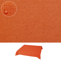 Silver LEINEN Optik Eckig 90x90 ORANGE Tischdecke