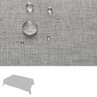 Silver LEINEN Optik Eckig 90x90 SILBER-GRAU Tischdecke