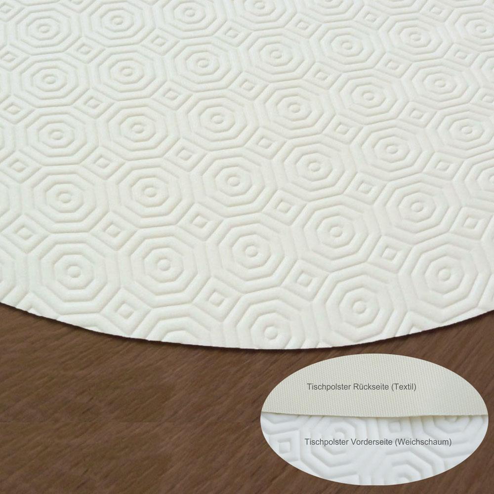 d-c-table TISCHPOLSTER Oval 135x220 cm Schoner Tischdecke Padua