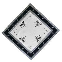 RENTIER Grau Weiß Mitteldecke 85x85 cm Leinenoptik Weihnachten