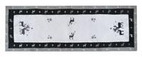 RENTIER Grau Weiß Tischläufer 45x170 cm Leinenoptik Weihnachten