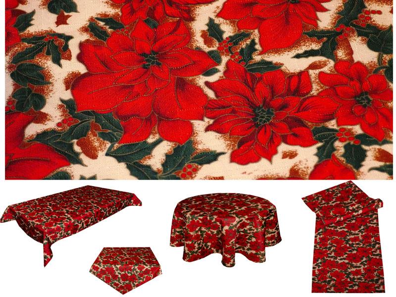 WEIHNACHTSSTERN Rot Beige Tischläufer Tischdecke Weihnachten