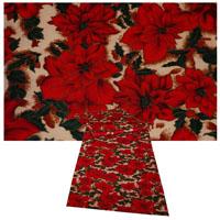 WEIHNACHTSSTERN Tischläufer 40x140 cm Rot Beige