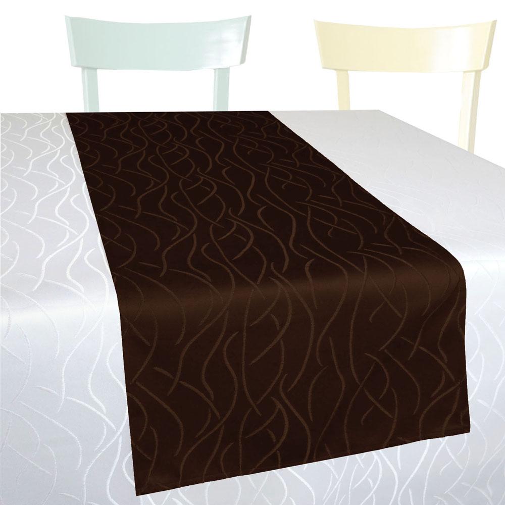 WELLEN Streifen Tischläufer Gerade 40x160 BRAUN Einfach genäht