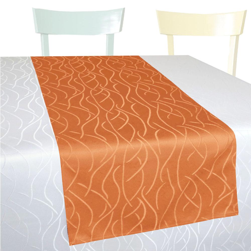 WELLEN Streifen Tischläufer Gerade 40x160 TERRA Einfach genäht (og)