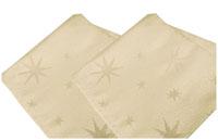 LUREX STERNE Creme-Gold 6 Stück Servietten Weihnachten