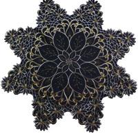 STERNFORM Leinen Optik GRAU 85 cm Mitteldecke Stern Weihnachten
