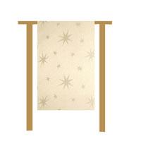 LUREX STERNE Creme-Gold 30x160 cm Tischläufer Weihnachten